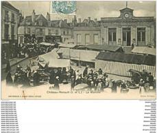 37 CHATEAU RENAULT. Le Marché 1904 - Sonstige Gemeinden