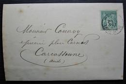 Nantes 1897 Le Masne De Brons Fromagerie Nantaise, Très Belle Facture Illustrée Adressée à Carcassonne, Voir Photos ! - 1877-1920: Periodo Semi Moderno