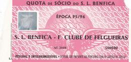 TICKET--SPORT  LISBOA E BENFICA-  F.CLUBE DE FELGUEIRAS - Toegangskaarten