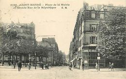 94 SAINT MANDE - ¨Place De La Mairie Er Grande Rue De La République - Saint Mande