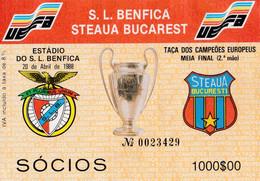 TICKET--SPORT  LISBOA E BENFICA-STEAUA BUCAREST - Tickets - Entradas