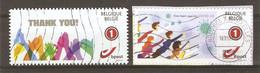 Belgique - Lutte Contre La COVID-19 - Petit Lot De 2 Duostamps° - 1 Sur Fragment - Private Stamps
