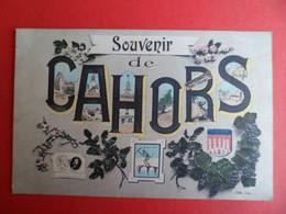 CPA +ou-1915 - Souvenirs De CAHORS - Lot - Multivues - Blason - Cahors