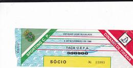 TICKET-SPORTING CLUB DE PORTUGAL-DINAMO  DE TRIANA - Tickets - Entradas