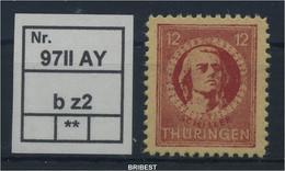 SBZ 1945 Nr 97IIAYb Z2 Sauber Postfrisch (88767) - Sovjetzone