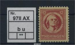 SBZ 1945 Nr 97IIAXb U Sauber Postfrisch (88789) - Sovjetzone