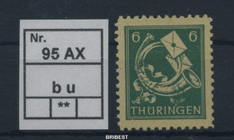SBZ 1945 Nr 95AXb U Sauber Postfrisch (88796) - Sovjetzone