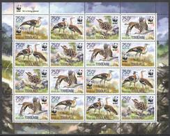 NW0562 2014 TOGO WWF BIRDS BUSTARDS OUTARDE DE DENHAM #5863-5866 SH(4SET) MNH - Unused Stamps