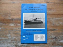 LIVRET 32 PAGES FRANCAIS ANGLAIS SNCF 1960 61 SOCIETE NATIONALE DES CHEMINS DE FER FRANCAIS  PAQUEBOT COTE D'AZUR - Boten