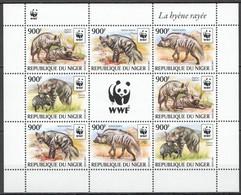 NW0578 2015 NIGER WWF HYENAS WILD ANIMALS #3742-3745 KB(2SET) MNH - Unused Stamps