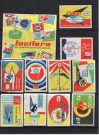 Albert Heijn Aerospace Emblems Luchvaart Emblemen  Luciferetiketten Match Labels - Luciferdoosjes