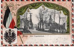 CPA GAUFREE    ALLEMAGNE---HAMBURG---ALTONA---BEIM SIEGESDENKMAL---1905 - Altona