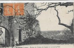 80, Somme , AIRAINES,  Ruines Du Chateau De Luynes,et Vue  Sur La Ville,  Scan Recto-Verso - Autres Communes