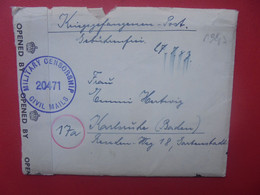 GERMAN PRISONER OF WAR- DEUTSCHLAND 1947 CENSURE+CONTENU - Covers & Documents
