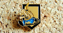 Pin's ARMEE DE TERRE 92° Régiment Infanterie CLERMONT-FD 63 - Gaulois Couleur ASM Rugby - Peint Cloisonné Fab Inconnu - Militari