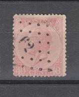 COB 20 Oblitéré LP 62 BRUXELLES MIDI - 1865-1866 Profile Left