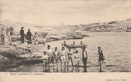 MALTE BOYS PASTIMES IN SUMMER HERMEN & CO MALTA 1907 RARE - Malta