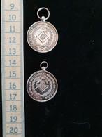 """2 Médailles Argent, Récompense D'assiduité """"les Indivisibles Ecossais Or De Paris"""" Loge N°65, Franc Maçonnerie, 1870 - Andere"""