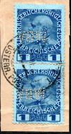 189.AUSTRIA.LEVANT,LEBANON ?,BEIRUT ?.1908 1P.PAIR.WBV PERFIN - Usados