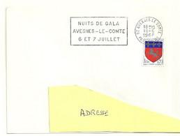 PAS De CALAIS - Dépt N° 62 = AVESNES Le COMTE 1968 = FLAMME SECAP ' NUITS De GALA ' - Annullamenti Meccanici (pubblicitari)