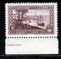 Algerie 1930 Yvert 100a ** TB Bord De Feuille - Unused Stamps