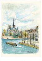 Aquarelle Robert LEPINE - PARIS - Paintings