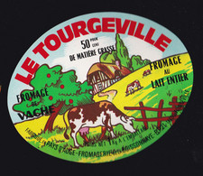 ÉTIQUETTE DE FROMAGE  - FROMAGE  LE TOURGEVILLE - Kaas