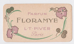 Carte Parfumée Floramye Piver Bazar De La Renaissance Maulavé Saint-Quentin - Vintage (until 1960)