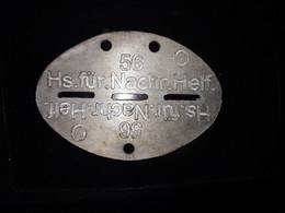 Plaque Identité Ww2 Allemande Helferin - 1939-45