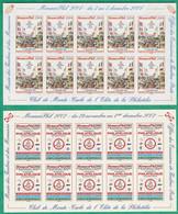 MONACO - LOT DE 5 FEUILLES DE 10 VIGNETTES MUSEE DES TIMBRES ET DES MONNAIES** - Collections, Lots & Series