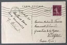 France, Poste Maritime - N°190 Sur CPA OBL Mécanique Ligne Le Havre à New York 20.10.1935, Paquebot NORMANDIE - (B023) - Maritime Post