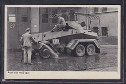 S48 /   Drittes Reich / Wehrmacht Bildserie / Panzer Fahrzeug Pflege - War 1939-45