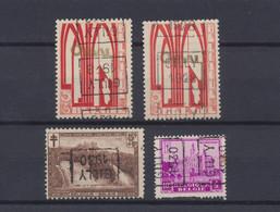 """Petit Lot De Série Incomplète + Préo """"Gilly 1930"""" Sur Timbre Orval, Cascade De Coo Et Chateau De Bornhem. - Roller Precancels 1930-.."""