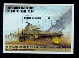 Grenada Grenadines 1994  WWII,World War II , D-Day ,tank - 2. Weltkrieg