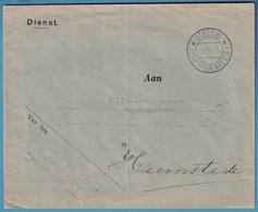 Env En Franchise De UTRECH/1915 Pour Le Percepteur Des Postes à Heemstede (échange De Courrier Avec La Belgique) Rare - Belgisch Leger