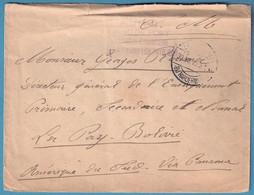 Env SM D'un Interné Belge Du Camp D'HARDERWIJCK/1915 Pour La Bolivie Avec Arrivée. Rare - Belgisch Leger