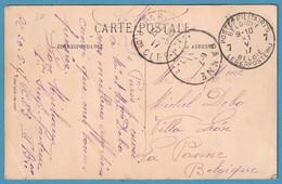 C De PARIS/1917 Pour Arriv Càd  PANNE Via POSTES MILITAIRES 7 - Belgisch Leger