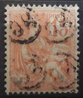 Type MOUCHON,   Yvert No 117, 15 C Orange,  Obl Cachet Facteur OR,  TB - 1900-02 Mouchon