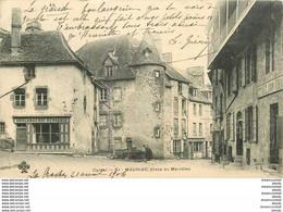 Promotion Club 2 X Cpa 15 MAURIAC. Boulangerie Renaudie Place Du Méridien 1904 Et Eglise Des Miracles 1904 - Mauriac