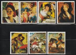 PARAGUAY - N°1633/9 ** (1978) Tableaux Goya - Paraguay