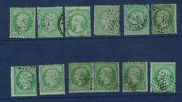 FRANCE- Yvert N° 20 X 12 Exemplaires - 1862 Napoleone III
