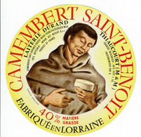 """Et. Camembert """" SAINT BENOIT """" Fabriqué En Lorraine - Laiterie De Thiaucourt - Kaas"""