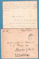 Env + Contenu En SM Càd ALVERINGEN/1915 Pour L'Angleterre - Niet-bezet Gebied