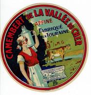 "Et. Camembert "" VALLEE Du CHER "" Fabriqué En Touraine - Kaas"