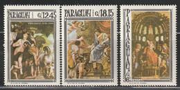 PARAGUAY - Poste Aérienne N°456/8 ** (1967) Tableaux - Paraguay