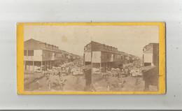 PORT AU PRINCE (HAITI) PHOTO STEREOSCOPIQUE ANCIENNE RUE ANIMEE  1871 - Fotos Estereoscópicas