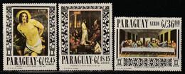 PARAGUAY - Poste Aérienne N°459/61 ** (1967) Tableaux Religieux - Paraguay