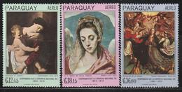 PARAGUAY - Poste Aérienne N°462/4 ** (1967) Tableaux Religieux - Paraguay