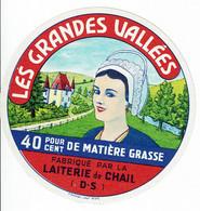"""Et. """" LES GRANDES VALLEES """" 40 % ( Laiterie De CHAIL (DS) - Kaas"""