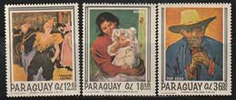 PARAGUAY - Poste Aérienne N°465/7 ** (1967) Tableaux - Paraguay